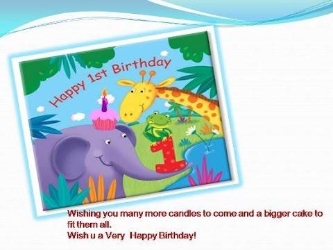 1st birthday wishes 1st