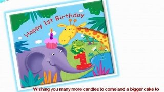 1st Birthday Wishes: 1st Birthday Poems Verses Images Pictures Greetings Quotes for cards