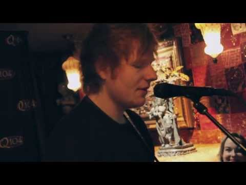 Ed Sheeran - No Diggity/Thrift Shop Mash-Up (Q104 Coffeeshop Performance)