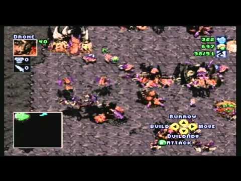 N64 Starcraft Zerg walkthrough ''The Dark Templar'' (Part 1/2)