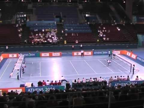 USA vs. CA Men's Goalball Bronze Medal Match Athens 2004 ...