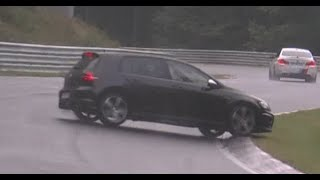 Nordschleife HIGHLIGHTS 04.10.2015 Almost Crash Spin and Drifts Very Wet and Slippery