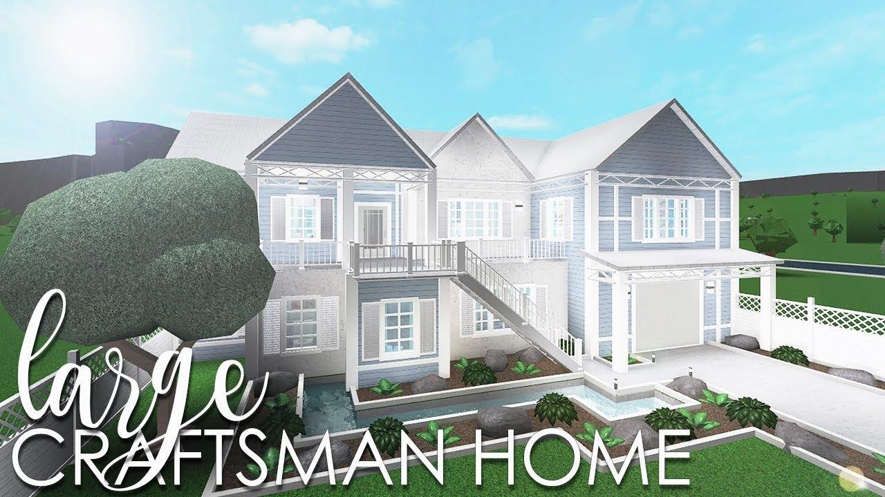 Bloxburg: Large Craftsman Home 126k - YouTube