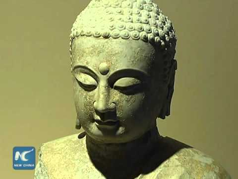 1,500-year-old ancient Buddhist statues on display in China