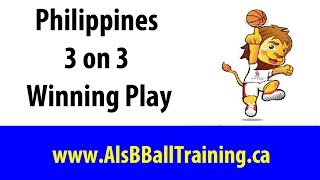 Philippines 3 on 3 Basketball Play | 3 on 3 Basketball Offense