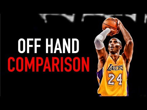 Basketball Off Hand Comparison (Curry, Klay, Kobe, PG)