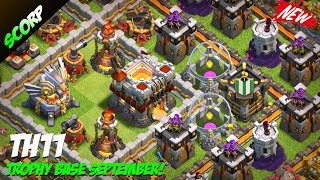 TH11 Trophy Base 2017 |  CoC Best Th11 Base Layout Titan/Legend + Replays - Clash Of Clans
