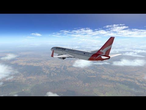 X Plane 11 - Brisbane To Melbourne - Zibo Mod 737-800 - Max Graphics