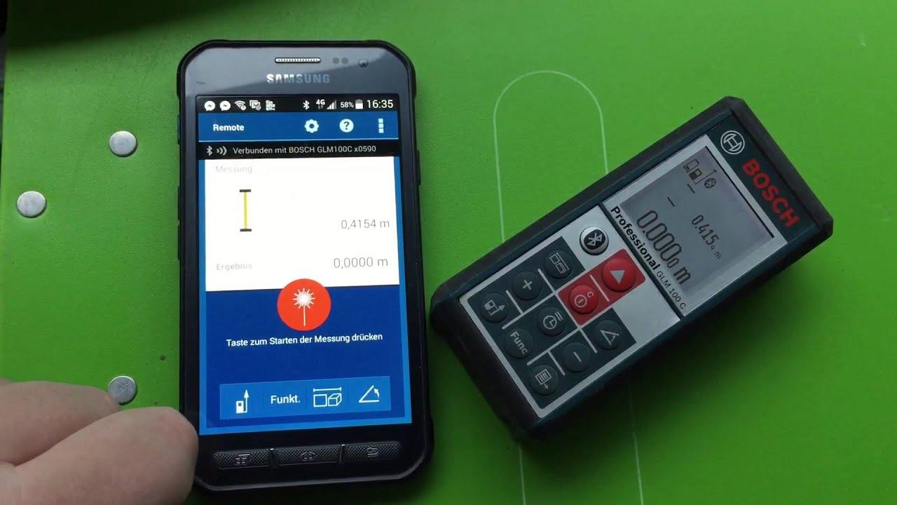 Bosch Laser Entfernungsmesser Software : Aufmaß mit bosch aufmaßlaser youtube