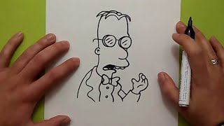 Como dibujar al Prof.Frink paso a paso - Los Simpsons | How to draw Prof.Frink - The Simpsons