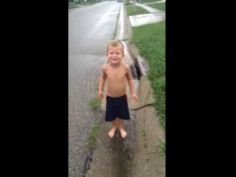 Maxton Steven Collier jumping in muddy puddles 2016