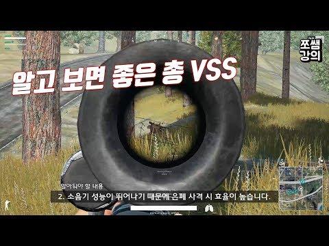 [배틀그라운드] 쓰레기 취급 받는 저격총 VSS의 올바른 사용법