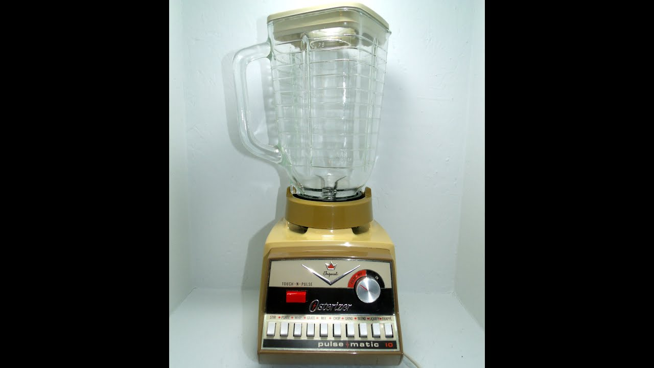 vintage imperial osterizer pulse matic 10 blender brown