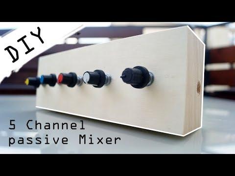 DIY 5 Channel passiv Audio Mixer