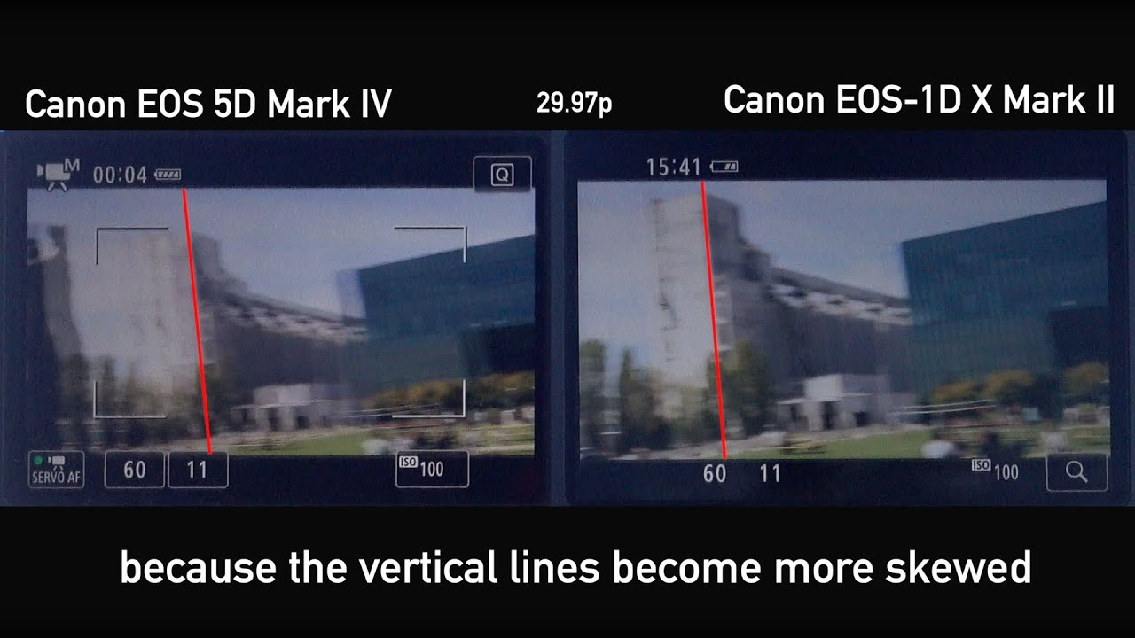 Canon EOS 5D Mark IV Rolling Shutter Demonstration by DPReview com