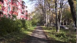 Футаж  Академгородок  Осень  Улицы Воеводского и Академическая   000596