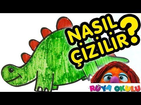 Nasıl Çizilir? - Dinozor - Çocuklar İçin Resim Çizme - RÜYA OKULU