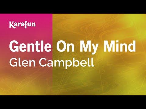 Karaoke Gentle On My Mind - Glen Campbell *