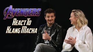 "'Avengers: Endgame' Cast Reacts To ""Klang Macha"" 