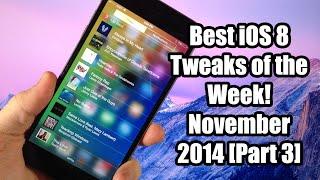 Best iOS 8 Jailbreak Tweaks of the Week! - November 2014 (Part 3)
