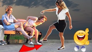 stepping over nothing prank  AWESOME REACTIONS Best of Just For Laughs