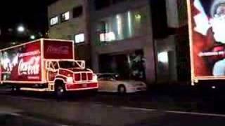 Coke trucks in Tokyo in December