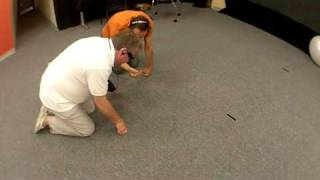Blind man visually picks up objects through visual-to-auditory sensory substitution