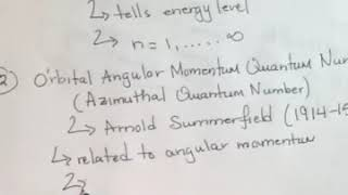 Science 122 The 4 Quantum Numbers