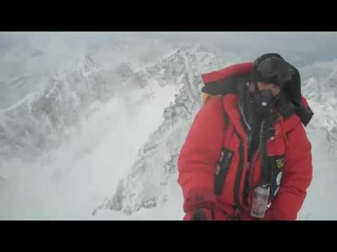 Rob Hill on the South Summit of Everest