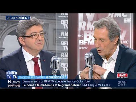 «FACE À MACRON, IL FAUT CRÉER UN RAPPORT DE FORCE» - Mélenchon chez Bourdin Direct