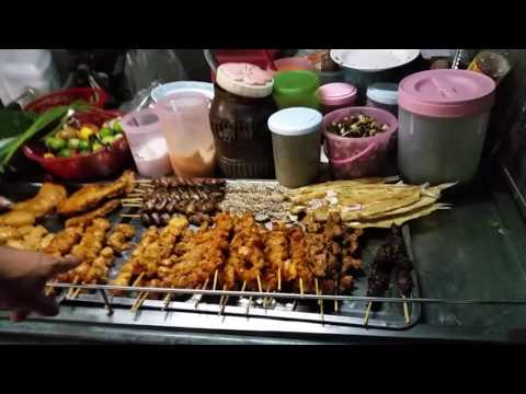 Thai BBQ Street Food on Koh Samui Chaweng Beach Road – Thailand