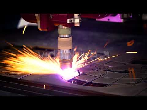 CNC Laser Plasma Cutting of Metal, Modern Industrial Technology. | Stock Footage - Videohive