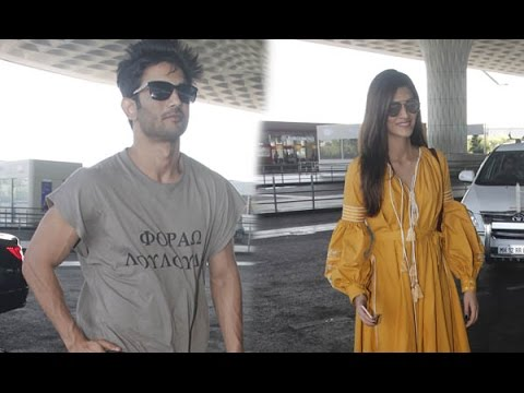 Thumbnail: SPOTTED: Sushant Singh Rajput and Kriti Sanon at the Airport | SpotboyE
