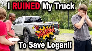 I RUINED My Truck To SAVE LOGAN!!!