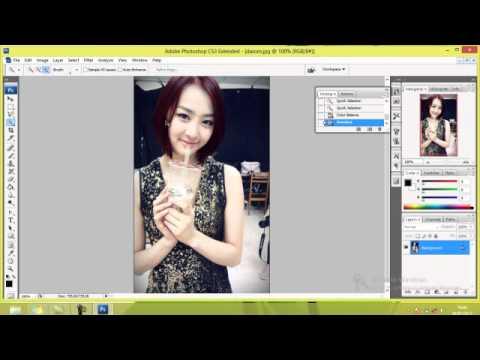 tutorial mengubah warna rambut pada Adobe Photoshop CS3.avi - YouTube