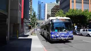 "Sound Transit 2015 New Flyer XD60 ""Xcelsior"" Artic 9814 On The 554 @ Lenora Street & 4th Avenue"