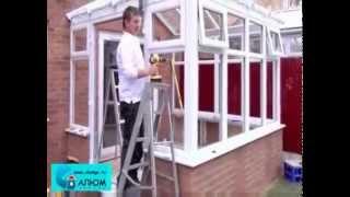 видео Остекление алюминиевого зенитного фонаря