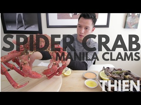 [mukbang with THIEN]: Spider Crab & Manila Clams