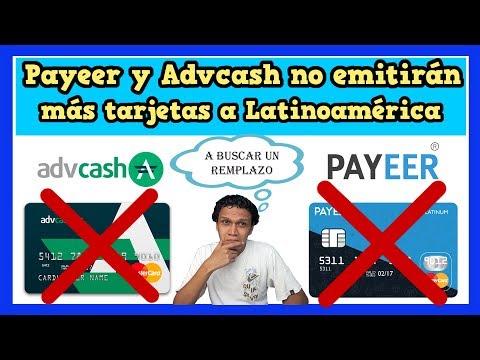 Malas noticias para nosotros los latinos Payeer y AdvCash no emitirán más tarjetas MasterCard