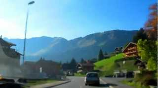 Arriving in Châtel (Suisse / France 10-2011)