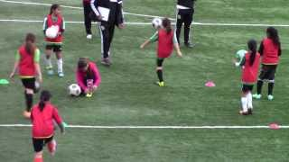Isabel Liu - Dublin United Soccer League - U10G 2014 Tryouts - Juggling Drill