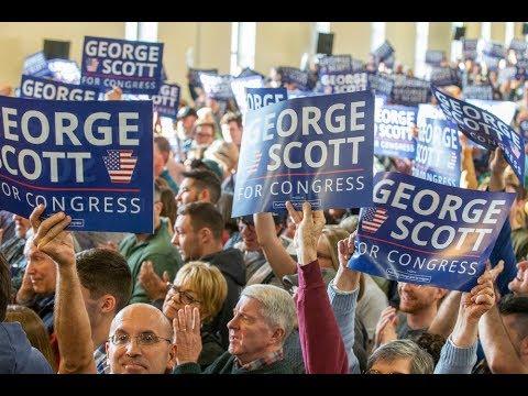 Joe Biden stumps for George Scott and Tom Wolf