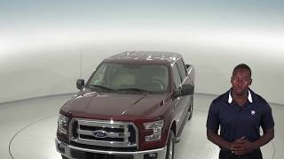 C96893TA - Used, 2015, Ford F-150, 4WD, Maroon, Crew Cab, Test Drive, Review, For Sale -