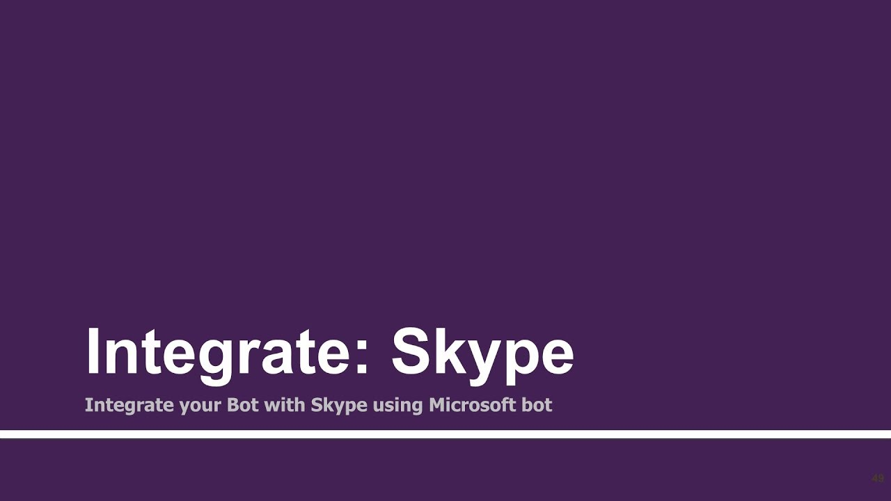 Integrate API AI Chatbots with Skype using Microsft Bot Framework | Part -  13 | Tutorials Team