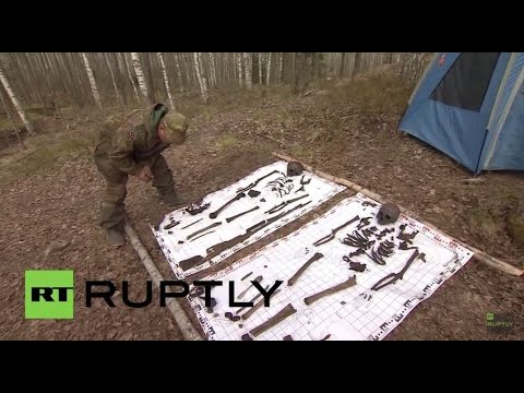 Russia: Volunteers excavate and identify lost Red Army airmen