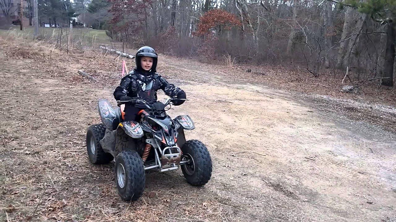 ATv Cheap Mods 90cc part 11 son rides to show speed