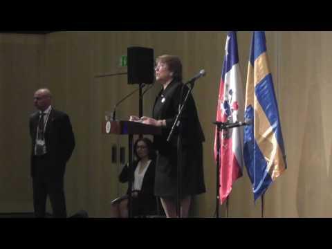 Reunión Presidenta Michelle Bachelet  con la comunidad chilena residente en Suecia.UGtv