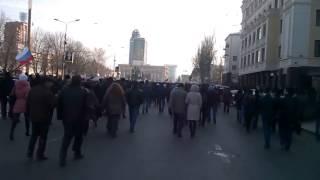 Приезд Кличко. Донецк. 9 марта 2014