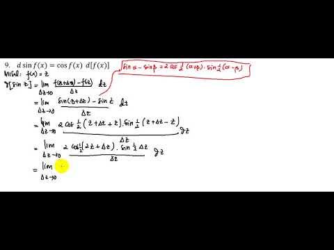 PEMBUKTIAN TURUNAN SIN f(x) - YouTube