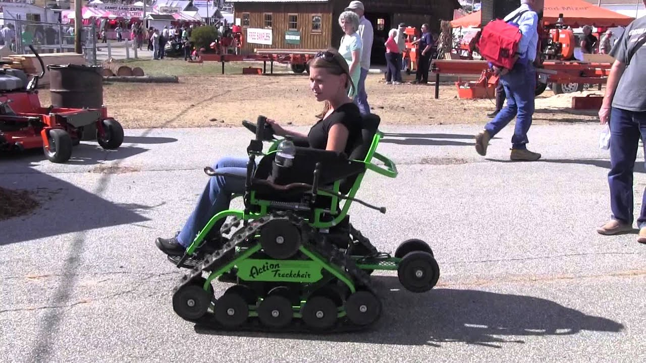 action track chair white aluminum rocking trackchair wheel demo wheelchair youtube